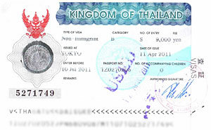 タイ王国入国ビザ